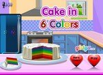 Печем шестицветный торт