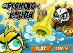 Рыбалка: Панда ловит рыбу