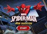 Человек паук стреляет в монстров паутиной