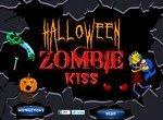 Поцелуи зомби в Хэллоуин