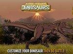Сражение гигантских динозавров