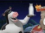 Супер Корова собирает молоко