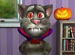 Говорящий кот Том празднует Хэллоуин