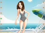 Ханна Монтана на пляже