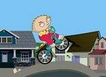 Стьюи Гриффин: Трюки на велосипеде
