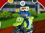 Лего: Гонки на мотоцикле с препятствиями