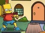 Барт Симпсон стреляет из рогатки