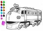 Чагинтон: Раскрась паровозики
