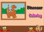 Детская раскраска с динозавриком