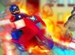 Лего: Капитан Америка на мотоцикле