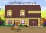 Гарфилд катается на скейтборде