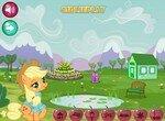Пони Эпплджек украшает сад