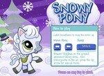 Ловим снежинки вместе с пони