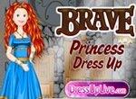 Принцесса Мерида собирается на бал