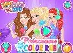 Принцессы Диснея посетили фестиваль красок