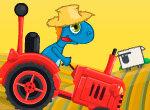 Черепаха на тракторе