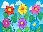Найди цветы с одинаковым числом лепестков