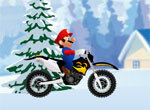 Марио на мотоцикле зимой