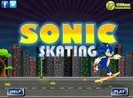 Денди Соник катается на скейте
