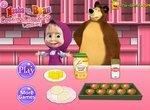 Маша и Медведь: Готовим шоколадное печенье