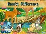 Найди отличия на картинках с Бэмби