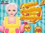 Печем пиццу вместе с бабушкой