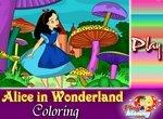 Раскраска для девочек: Алиса в Стране чудес