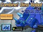 Робот динозавр: Синий трицератопс