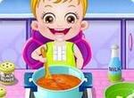 Малышка Хэйзел на кухне