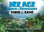 Белка Скрэт бежит от динозавров