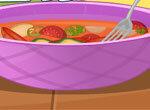 Летний суп с сосисками