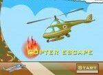 Полет вертолета в опасном тоннеле