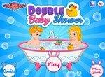 Пенная ванна для двоих малышей