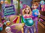 Беременная принцесса Рапунцель на шопинге