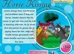 Влюбленные лошадки целуются