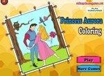 Раскраска: Принцесса Аврора и принц Филипп