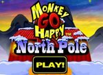 Грустная обезьянка на Северном полюсе