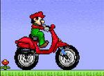Марио на мотороллере