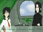 Гарри Поттер на уроке Северуса Снегга