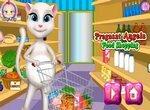 Беременная Анжела в продуктовом магазине