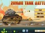 Танк уничтожает зомби