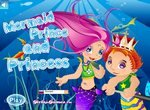 Одевалка принцессы русалки и ее принца