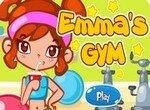Эмма бездельничает в спортзале