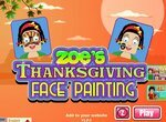 Зоя: Раскрашиваем лицо ко Дню Благодарения