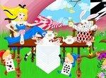 Алиса в Стране чудес: Создай сцену с чаепитием