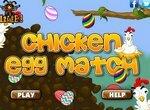 Три в ряд: Собери куриные яйца