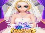 Невеста Лиза в свадебном салоне