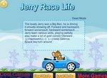 Мышонок Джерри гоняет на машине