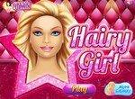 Волосатая девушка в парикмахерской