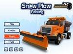 Парковка грузовика-снегоочистителя